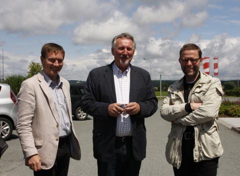 mit Bürgermeister Peter Vadasz (Güssing) und Bernhard Deutsch (Strem)