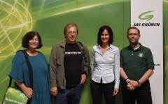 Die neue (alte) Chefin mit den VertreterInnen des Bezirks Mödling