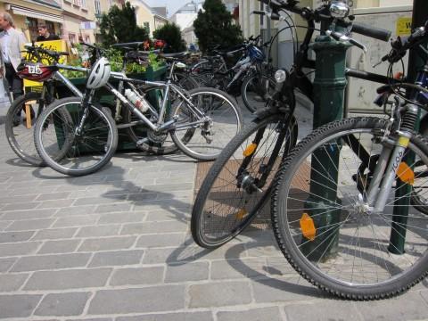 Viele Räder im Zentrum unserer Stadt