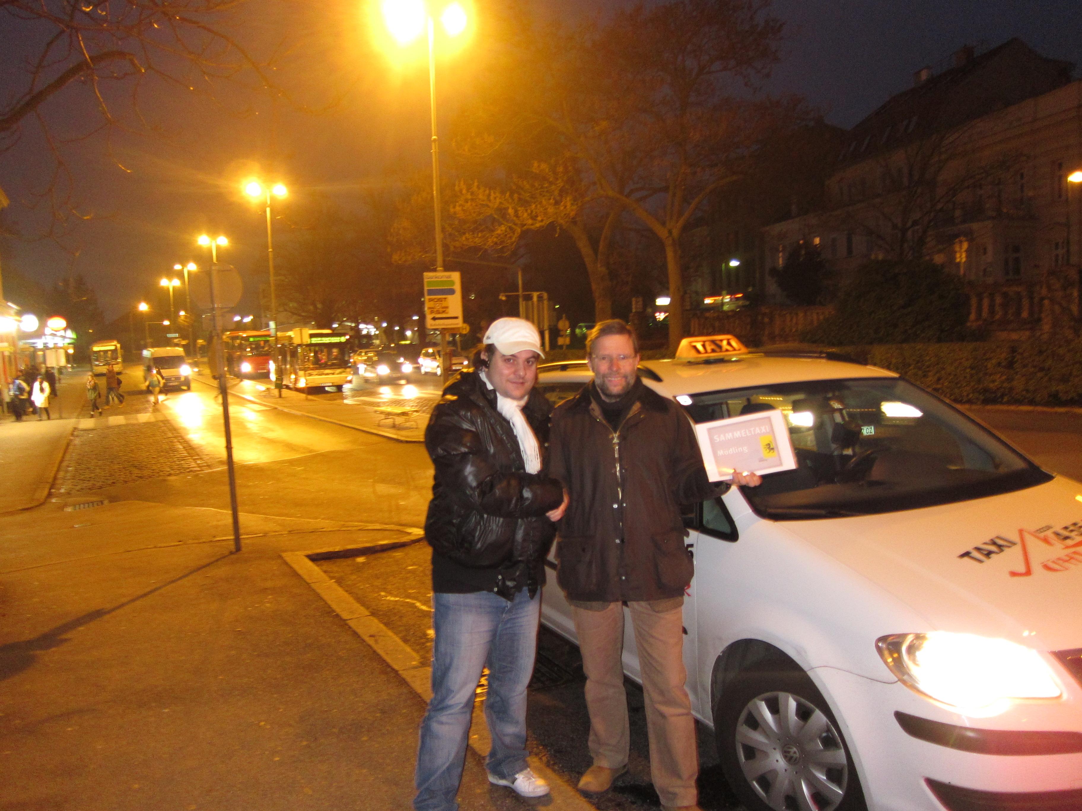 Seit Mo., 12. Dezember 2011 fährt das Sammeltaxi 4 x am Tag