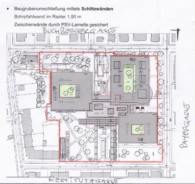 Plan des Krankenhauses