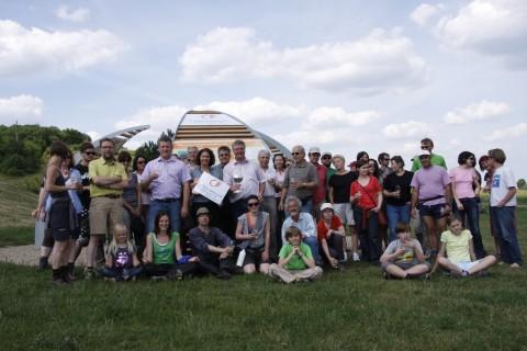 Mit BM Christoph Kainz und dem Umweltgemeinderat Viktor Paar beim Infopoint des Biosphärenparks in Pfaffstätten