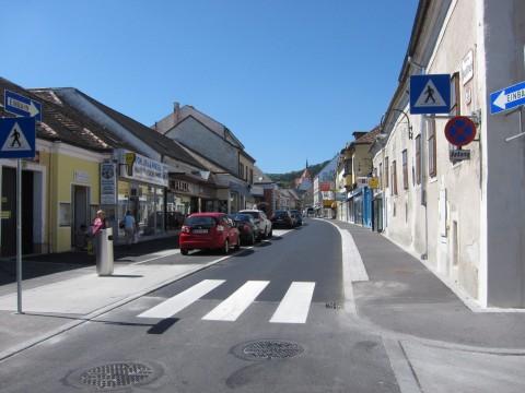 Der letzte Teil der Hauptstraße - leider ohne Radstreifen