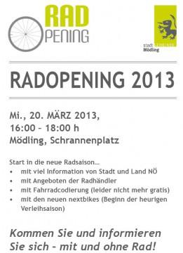 Radopening 2013