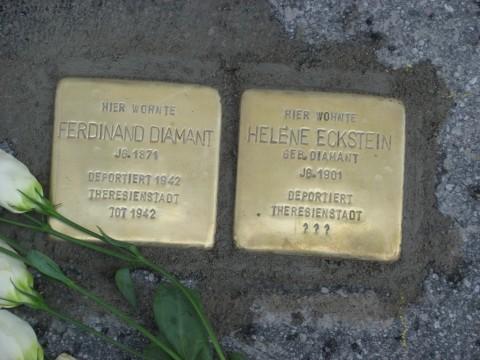 Stolperstein für Ferdinand Diamant und seine Tochter Helene Eckstein in der Hauptstraße 25
