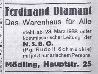 Mödlinger Nachrichten 26. März 1938, Seite 4