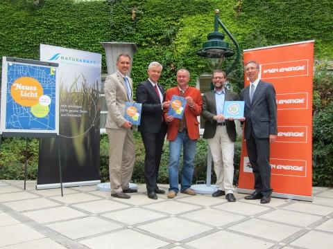 Mit Robert Luttenberger (GF Naturkraft), Mag. Grüneis (GF WienEnergie), BM Hintner und DI Tschulik (Lebensministrerium)