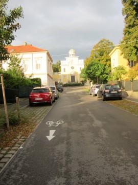 Rupprechtgasse in Richtung zur evangelischen Kirche