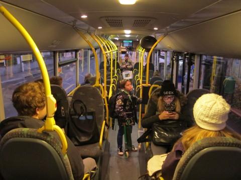 ...der leere Bus ...