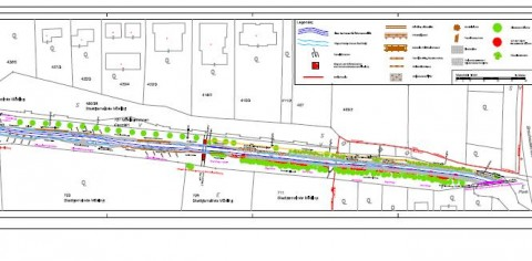 Ausschnitt vom Plan für die Arbeiten am Mödlingbach