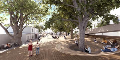 Visualisierung des Siegerprojekts von Stiefel + Company Architects