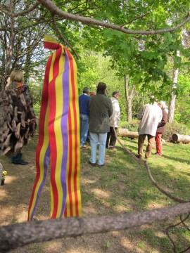 Die Farben der Spanischen Republik - wohl von einem Angehörigen eines der vielen spanischen Gefangenen