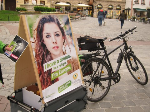 Überall in Mödling: die GRÜNEN Europa-Plakate